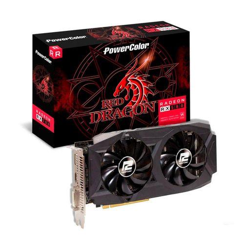 Placa de Video RX 580 8GB Red Dragon Power Color