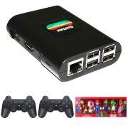 Console Infanto 3 - Video game Retrô Multijogos antigos em HD (2 controles sem fio)