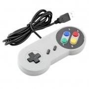 Controle SNES Super Nintendo USB (Colorido)