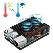 Super Case Raspberry Pi4 C/ Cooler + Dissipadores -  Pi 4