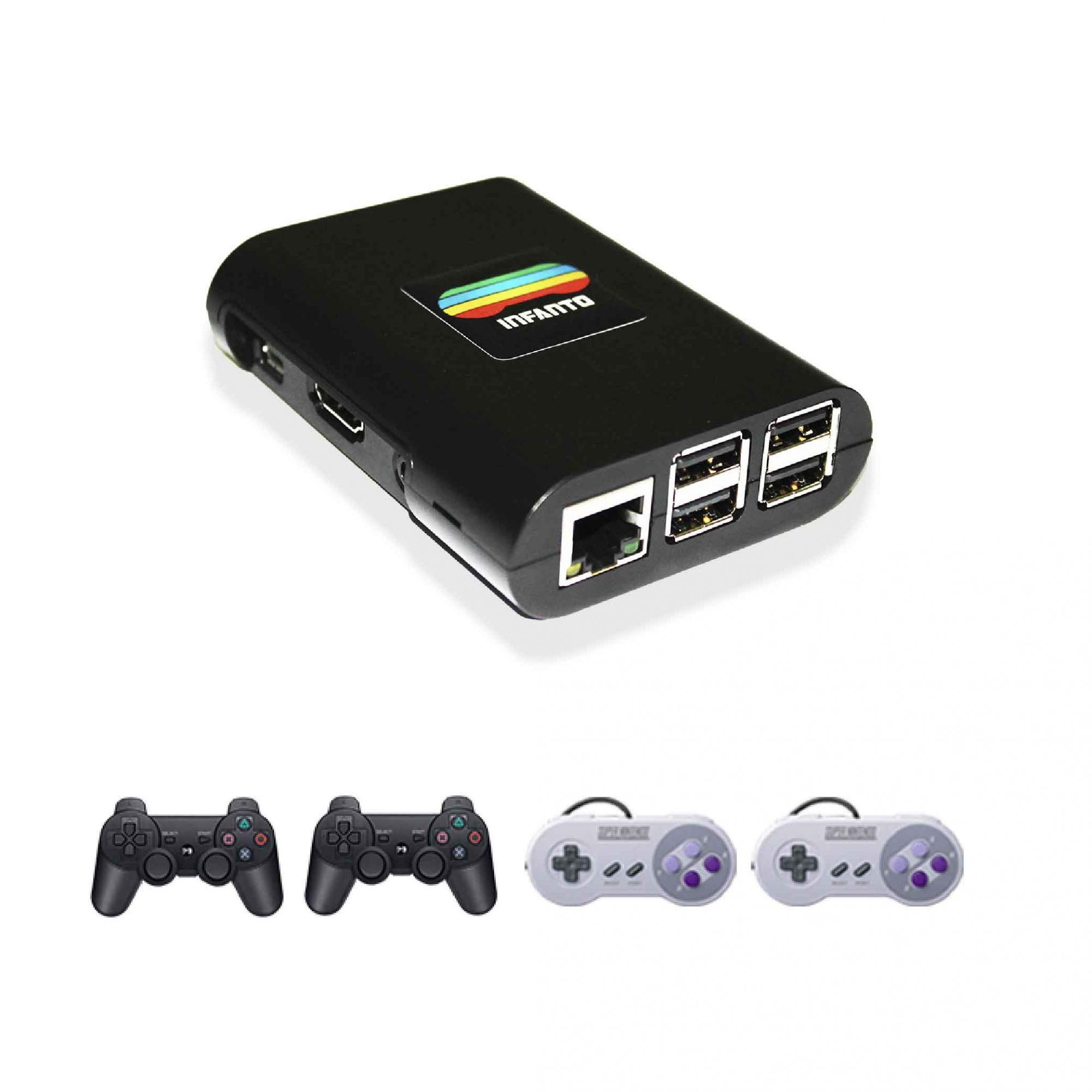 Combo Infanto 3 - Video Game Console retrô com 20 mil jogos antigos (4 controles)