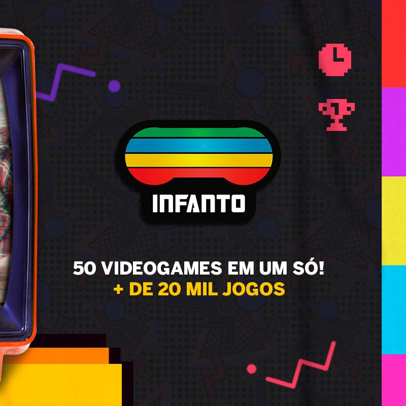 Console Infanto 3 - Video Game Retrô com 20 mil jogos antigos (sem controles)