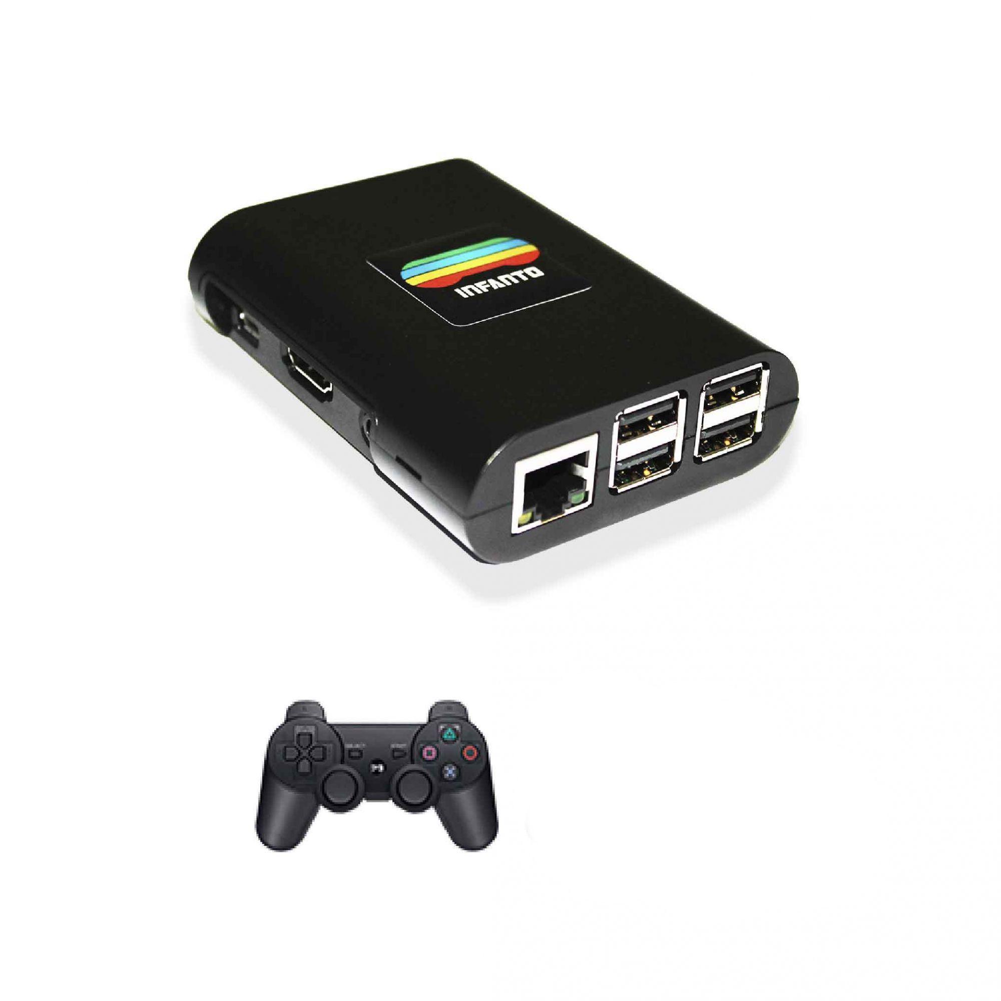 Console Infanto 3 - Video game Retrô Multijogos antigos em HD (1 controle sem fio)