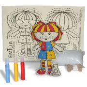 Boneca de Pano - Emília da Alegria - Alegria Sem Bateria