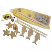Brinquedo Para Pintar e Jogar Pescaria - Alegria Sem Bateria