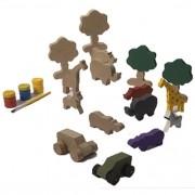 Brinquedo Para Pintar e Brincar Safari - Alegria Sem Bateria