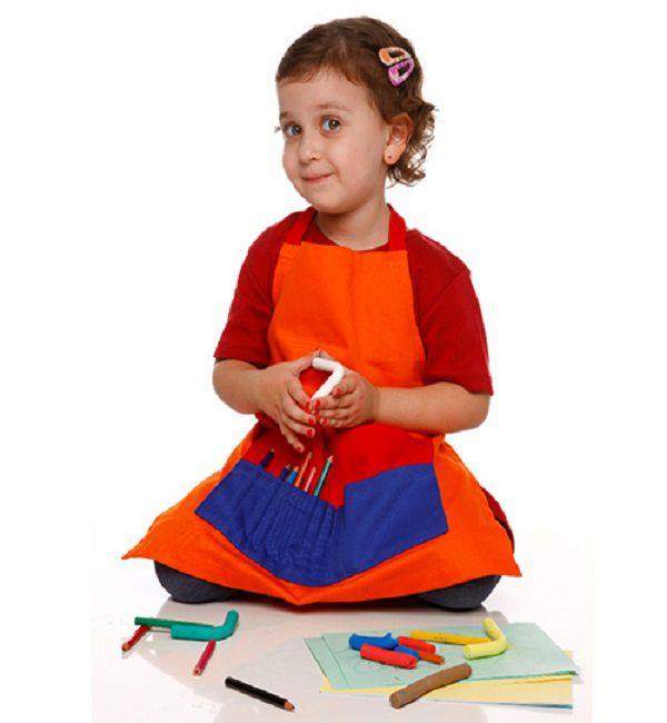 Avental Infantil Colorido - Alegria Sem Bateria  - Alegria Sem Bateria