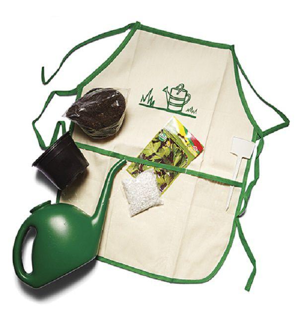 Avental Infantil Kit Jardineiro - Alegria Sem Bateria  - Alegria Sem Bateria