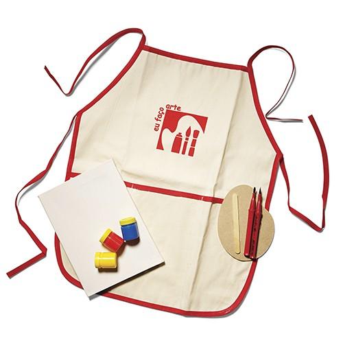 Avental Infantil Kit Artista - Alegria Sem Bateria  - Alegria Sem Bateria