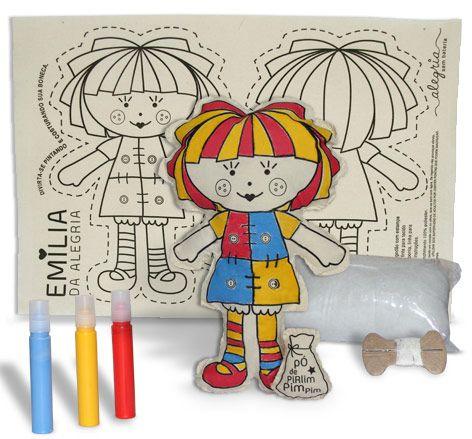 Boneca de Pano - Emília da Alegria - Alegria Sem Bateria  - Alegria Sem Bateria