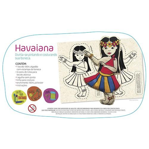 Boneca de Pano  Havaiana - Alegria Sem Bateria  - Alegria Sem Bateria