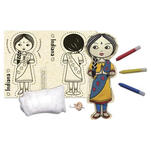 Boneca de Pano  Indiana - Alegria Sem Bateria  - Alegria Sem Bateria