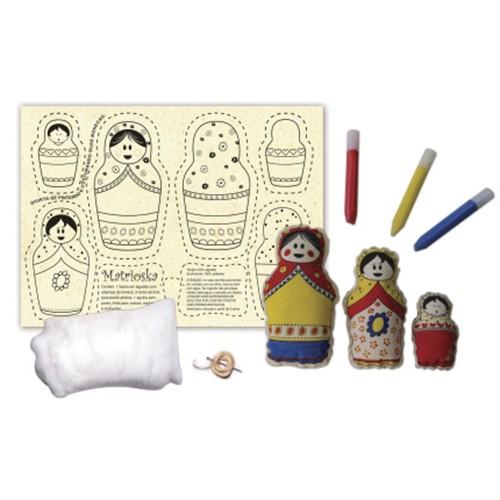 Boneca de Pano  Matrioskas - Alegria Sem Bateria  - Alegria Sem Bateria