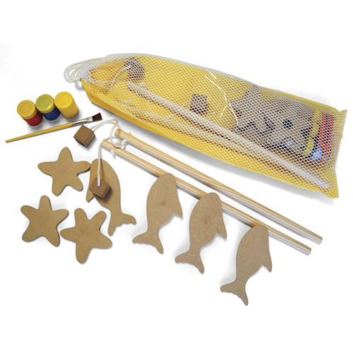 Brinquedo Para Pintar e Jogar Pescaria - Alegria Sem Bateria  - Alegria Sem Bateria
