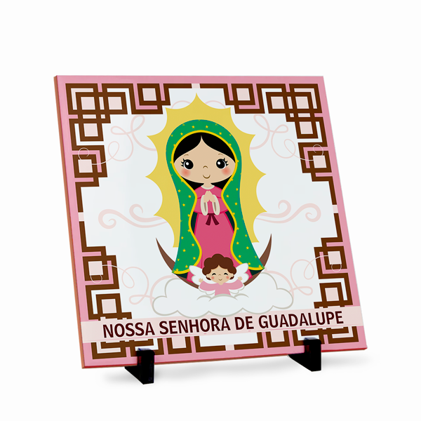 Azulejo Nossa Senhora de Guadalupe 20x20cm