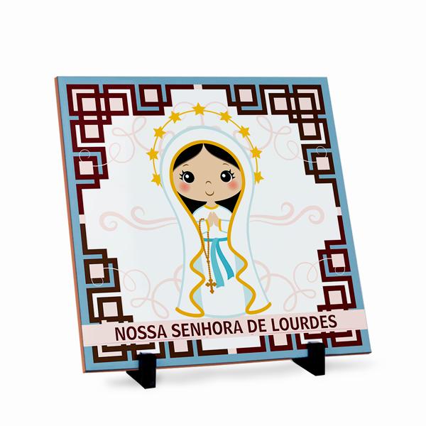 Azulejo Nossa Senhora de Lourdes 20x20cm