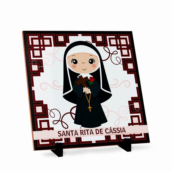 Azulejo Santa Rita de Cássia 20x20cm