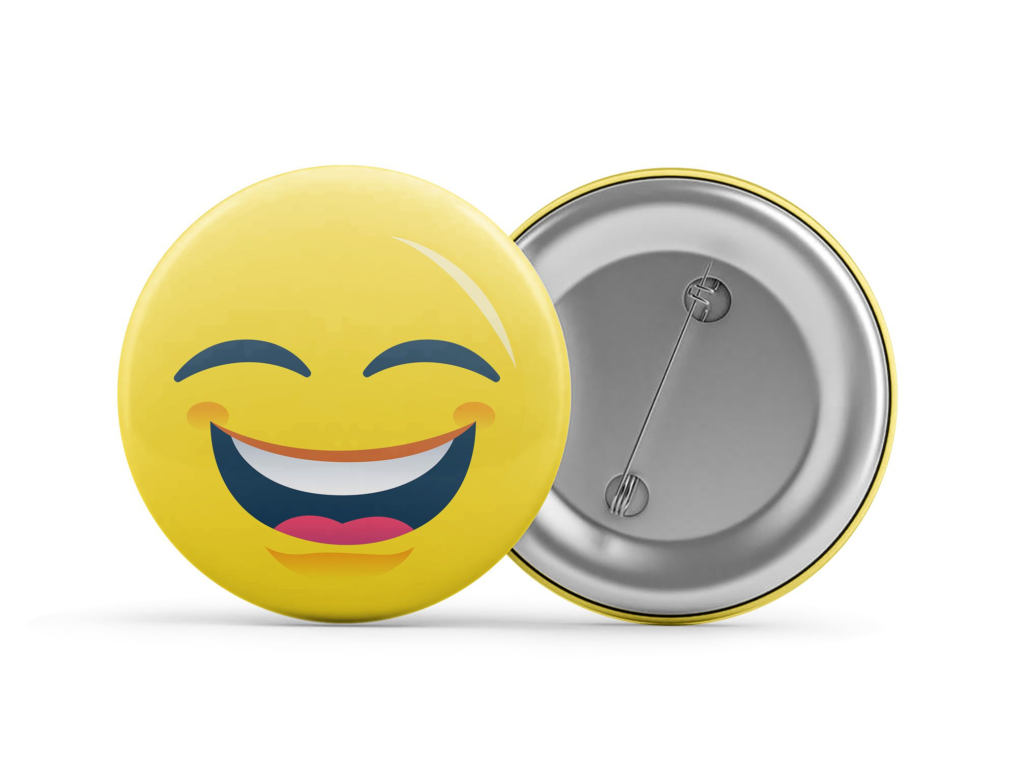 Botton Emoji Feliz Usinamaker Up Brindes E Personalizados