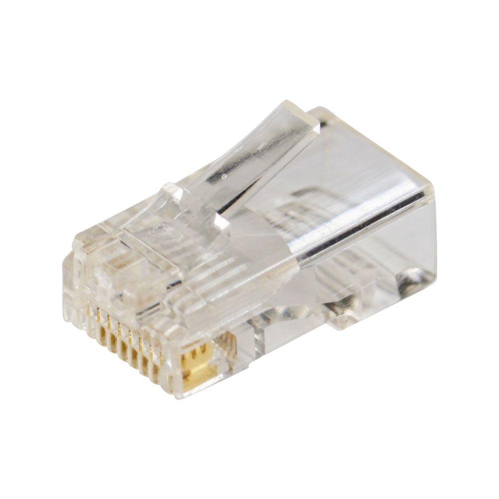100 Capas Snap In Branca + 100 Conectores Rj45 Plug