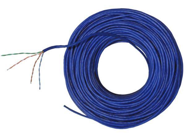 100 metros Cabo de Rede UTP 4P x24 AWG Cat5e CMX Azul - Nexans NEX0005