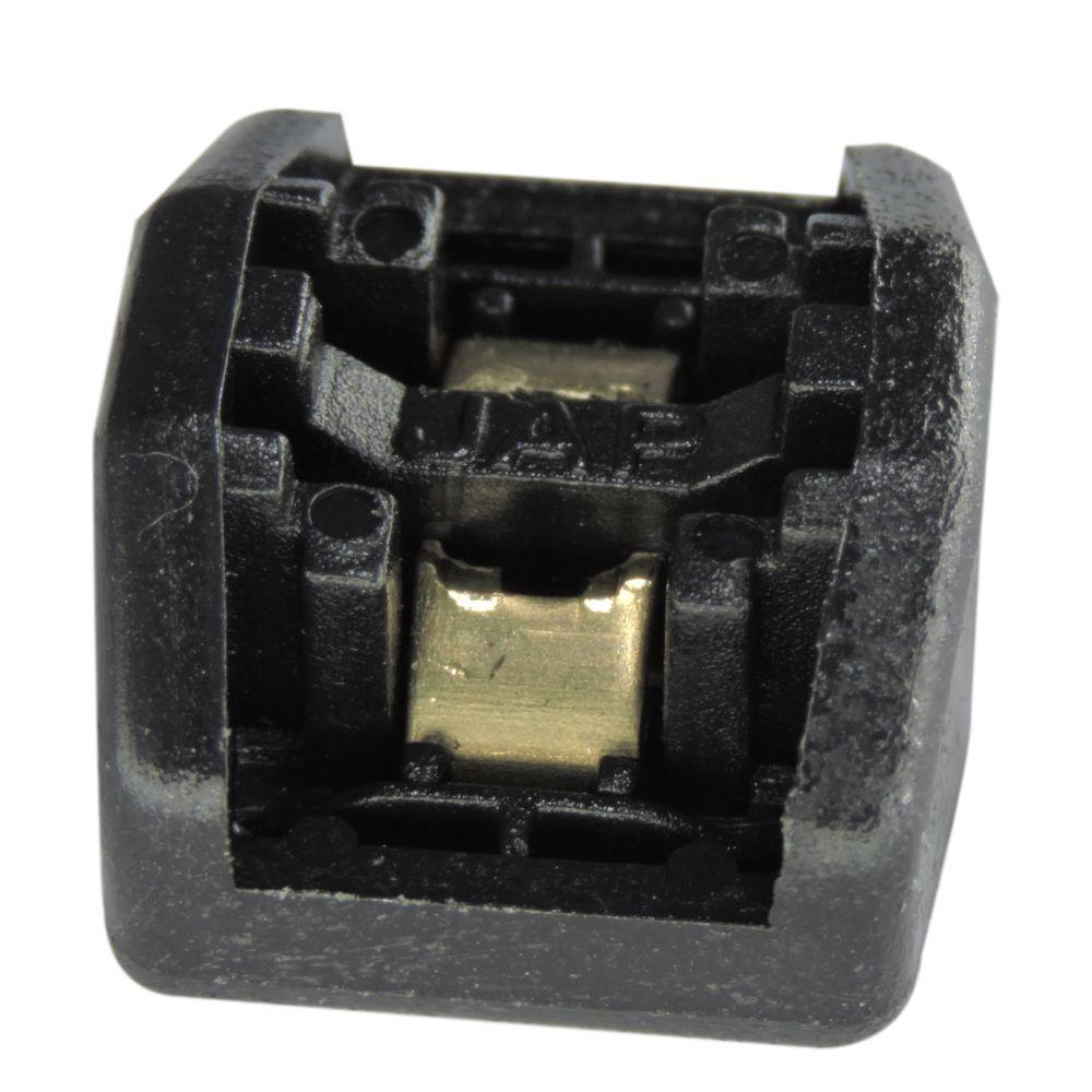 100 Unidades de Cabeça Autotravante P/ Fita Plástica - Preto