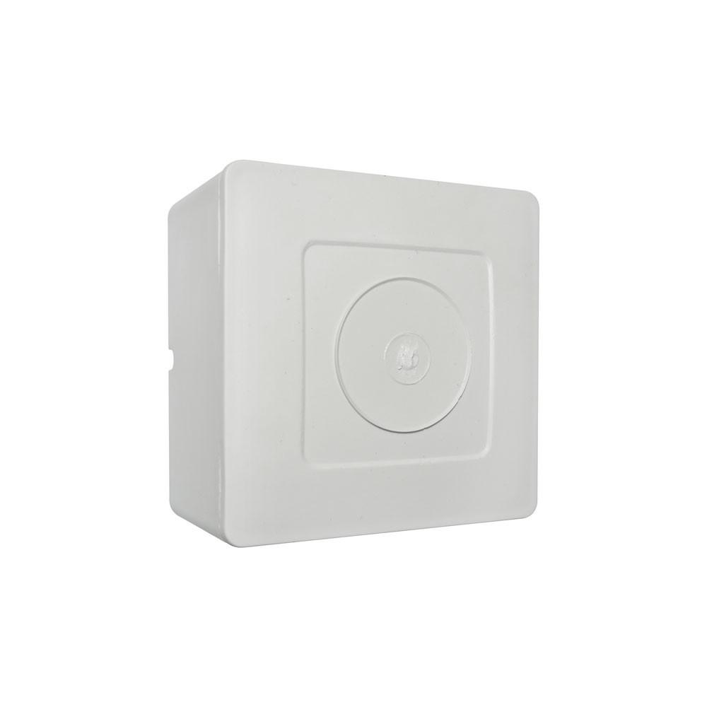 100 Unidades de Caixa de sobrepor para CFTV Quadrada Branca c/ tampa cega