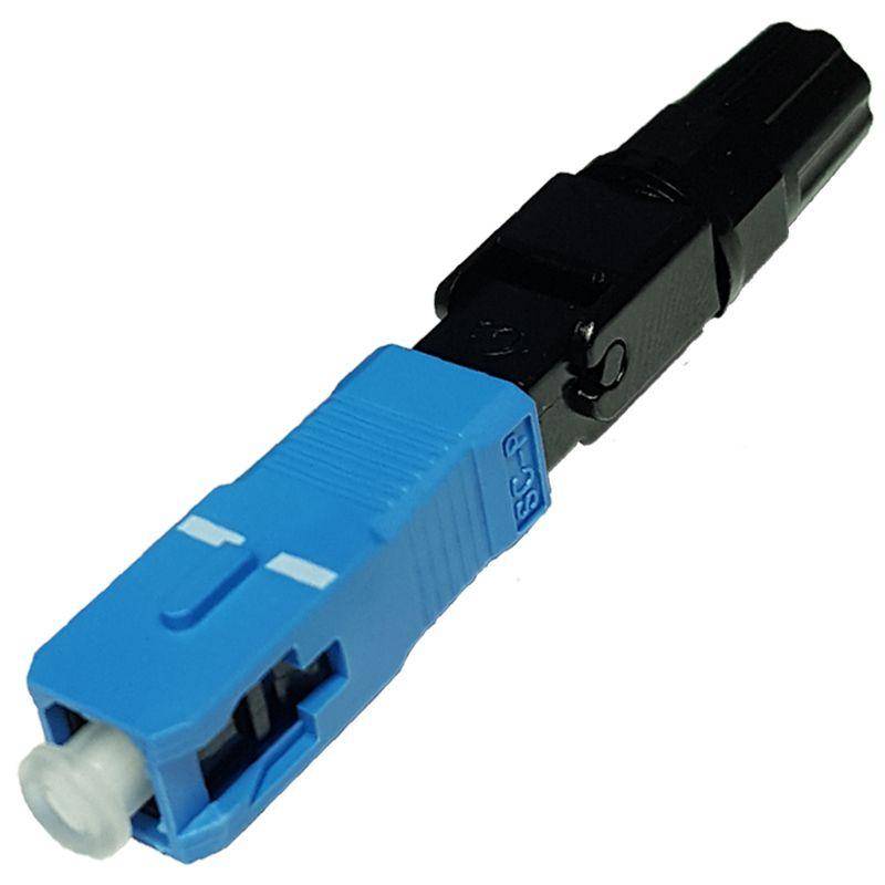 100 Unidades de Conector Óptico Sc Sm Azul Fast Pré Polido Fast Connector