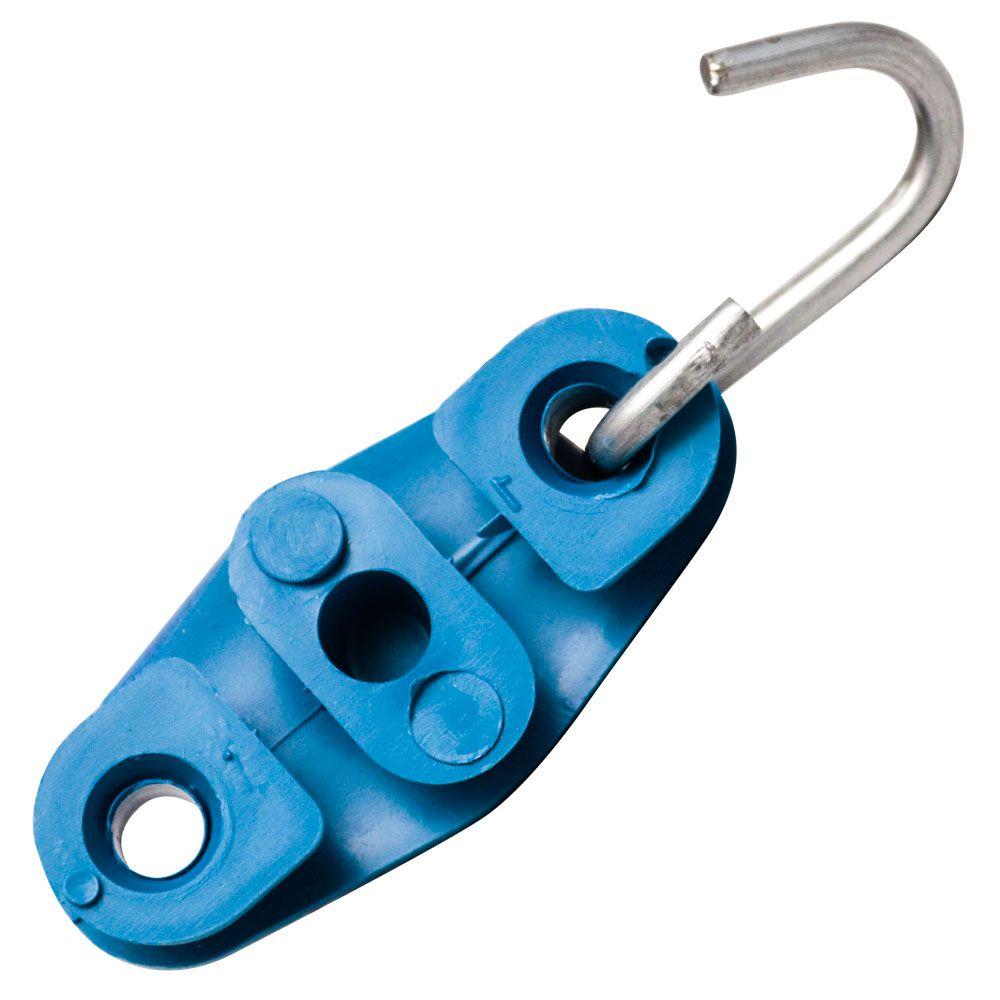 100 Unidades de Esticador Drop Tipo 8 Azul para Poste, Fio Fe, Cabo UTP, Rj45, Externo