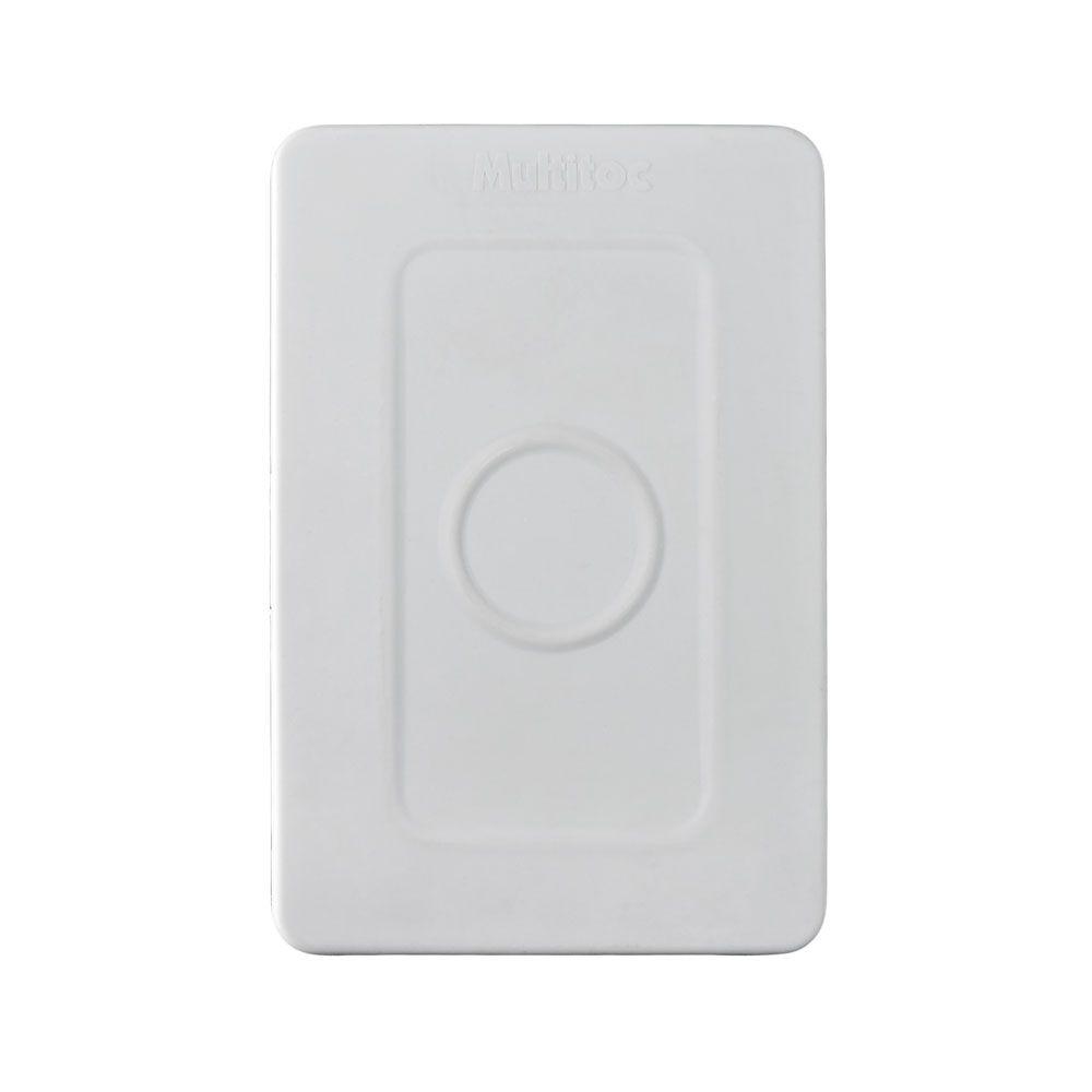 10 Unidades de Caixa de sobrepor para CFTV RETANGULAR p/ balun Branca c/ tampa cega