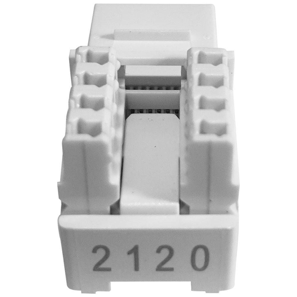 10 Conectores Fêmea Keystone RJ45 Cat5e Branco Soho Plus - Furukawa