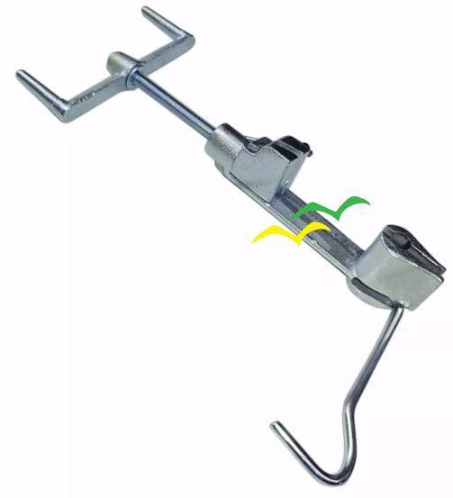 10  Pçs Máquina De Cintar Poste Galvanizada P/ Fita Aço Inox Fusimec