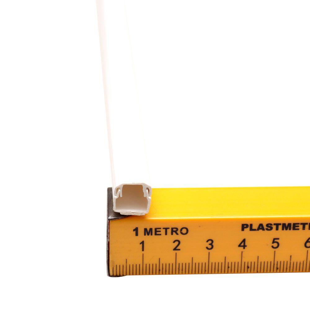 10 Unidades de Canaleta PVC 10x10x2000 – Com fita Dupla Face