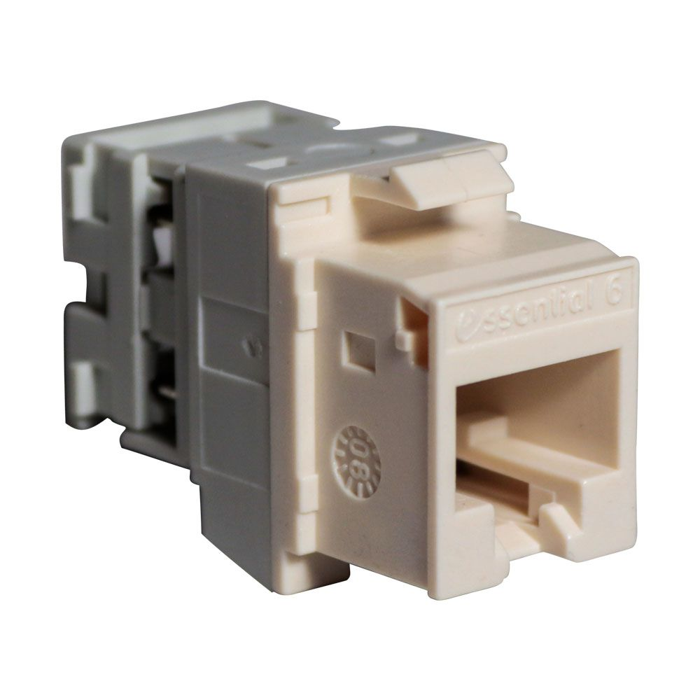 10 Unidades de Conector Femea Rj45 Keystone Cat 6 Branco Tomada de Rede de Dados e Voz - Nexans