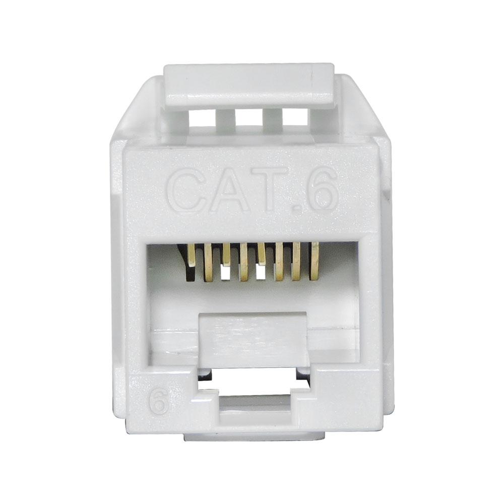 10 Unidades de CONECTOR FÊMEA SOHO PLUS CAT.6 T568A/B – BRANCO – ROHS