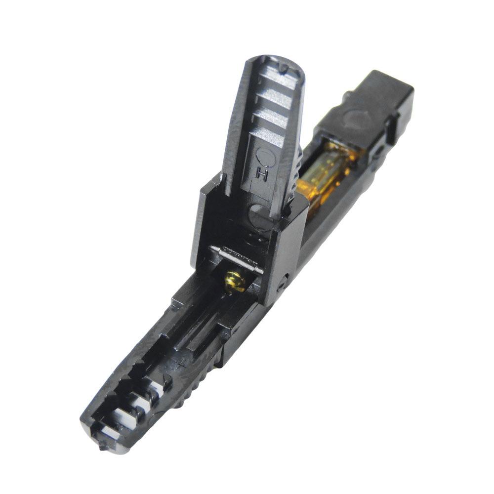 10 Unidades de Conector Óptico Sc Sm Azul Fast Pré Polido Fast Connector