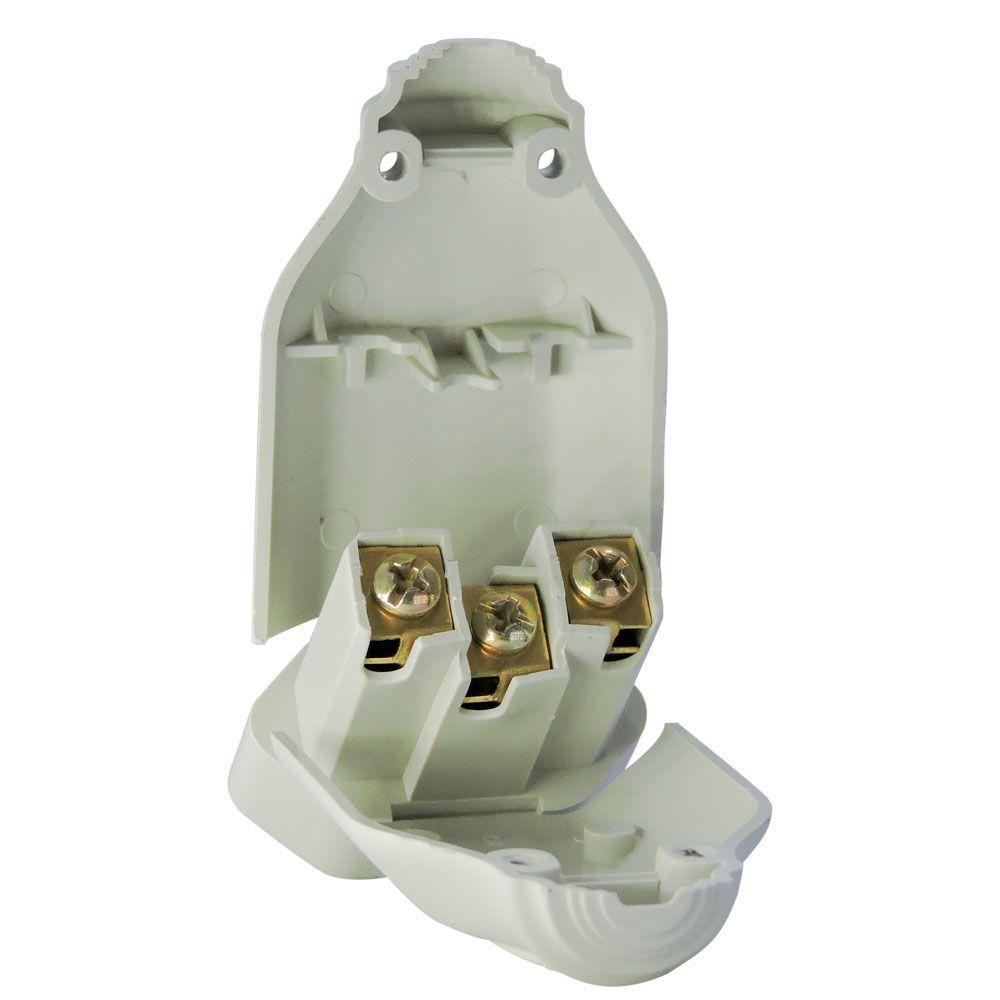 10 Unidades de Plug Femea Bipolar 2P+T Cinza 20A 250V~ - ILUMI