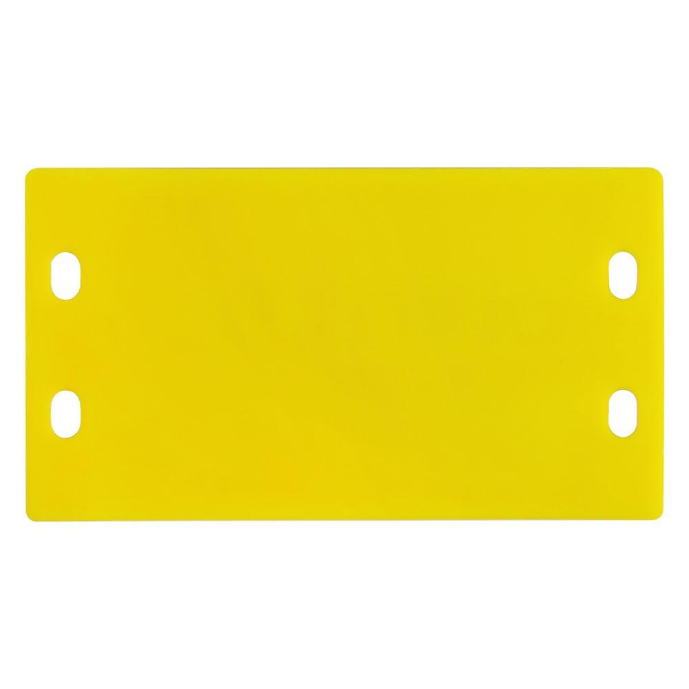 10 unidades Plaqueta de Identificação 3mm (9x4cm) em plástico c/ Relevo amarela