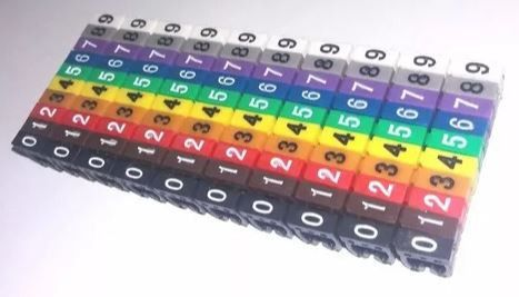 1500 Unidades de Identificador de cabos - Anilhas numéricas