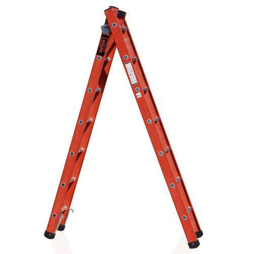 Escada Múltipla Extensível e Tesoura em Fibra de Vidro e Degrau de Alumino ETAF 07X11 - 2,20 X 3,74M