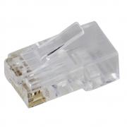 100 Conectores Plug Macho RJ45 Cat6 8 vias dupla camada sem guias - Nano Access