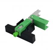 100 Peças de Conector Óptico de fibra óptica FTTH de campo SC/APC modelo One click (Base cinza)
