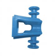 100 Peças de Isolador suporte SIPA 4 vias em injetado PP - Azul