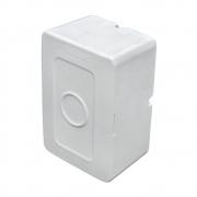100 Unidades de Caixa de sobrepor para CFTV RETANGULAR p/ balun Branca c/ tampa cega