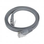 100 Unidades Patch Cord Flat Cable  RJ45 Flexível Cat6 1m Cinza
