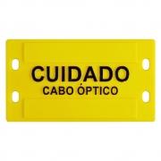 100 unidades Plaqueta de Identificação 3mm (9x4cm) em plástico c/ Relevo amarela