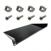 10 Bandejas para rack Modelo de fixação frontal 1U x 250mm C/ Porca Gaiola