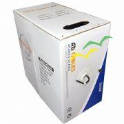 10 Caixas Cabo UTP Cat. 5 CMX AWG 4P Lan Cable - Preto