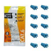 "10 Capas protetoras ""Snap In"" Azul Claro + 10 Conectores RJ45 Cat6 Furukawa"
