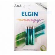 10 Cartelas com PILHA ALCALINA AAA ELGIN LR03 (BLISTER C/2)
