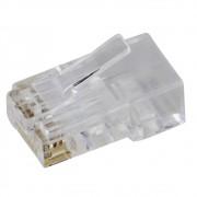 10 Conectores Plug Macho RJ45 Cat6 8 vias dupla camada sem guias - Nano Access